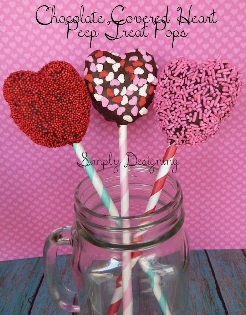 Chocolate Covered Heart Peep Pops