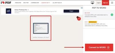 Gambar ilustrasi mengubah file PDF ke Word