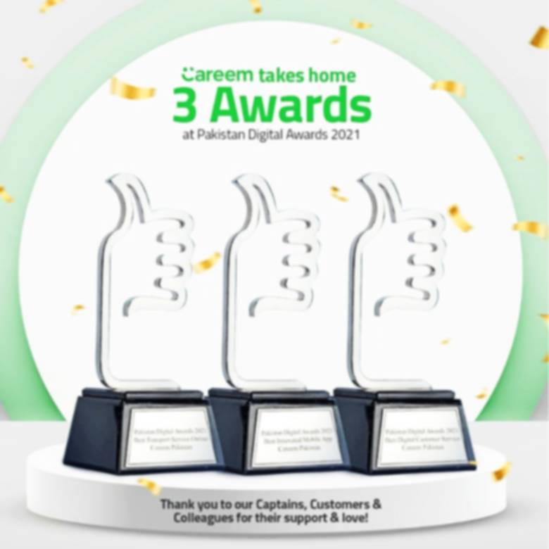 Careem Bags Pakistan Digital Awards '21