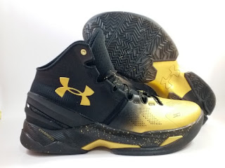 Under Armour UA Curry 2 MVP Black Gold   Jual Sepatu Basket Replika Import Premium