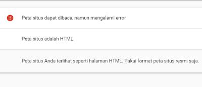 Google Console Peta Situs Error