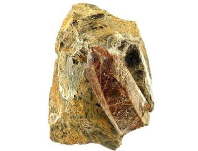 Monazita es un mineral de tierras raras contiene cerio, lantano, neodimio