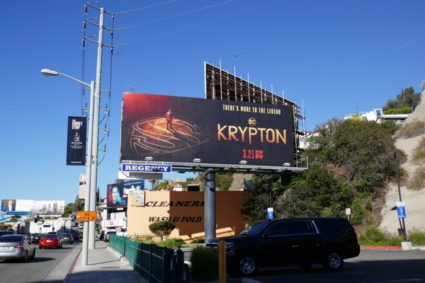 DC Krypton TV series billboard