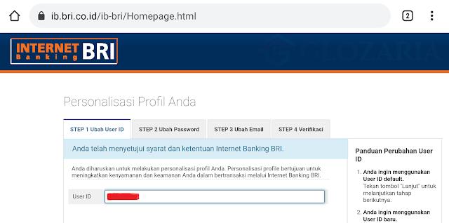 Mendaftarkan Email dan Nomor HP Untuk Aktivasi Internet dan Mobile Banking BRI