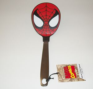 Spider-Man's head as the end of a spatula