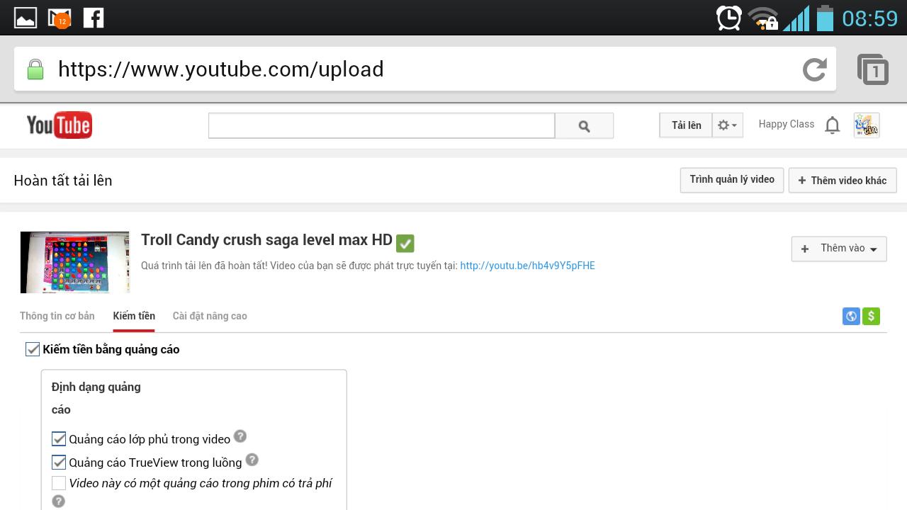 Youtube - kiếm tiền trên mạng với từng video