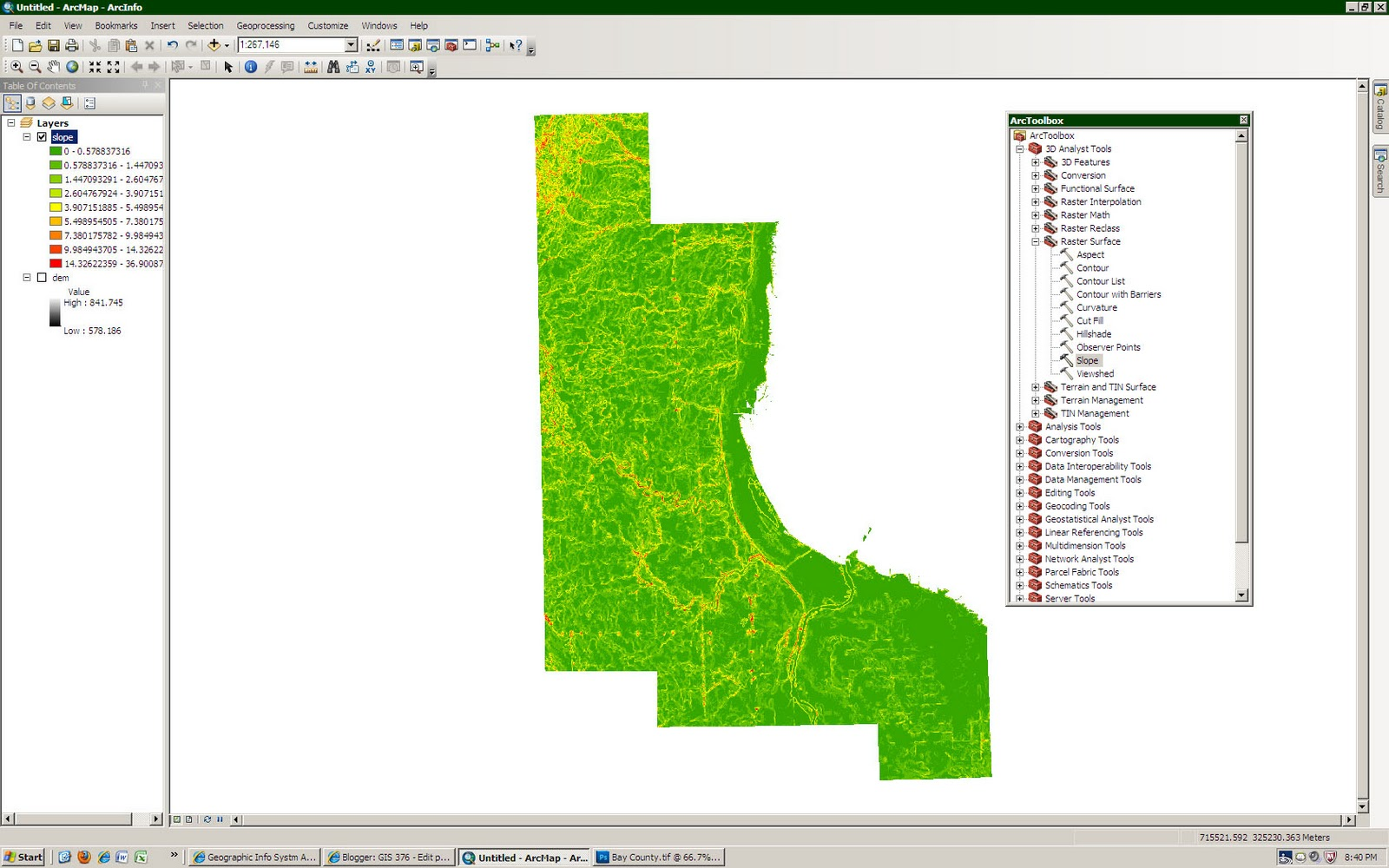 GIS 376: Terrain Analysis - Assignment Section 1