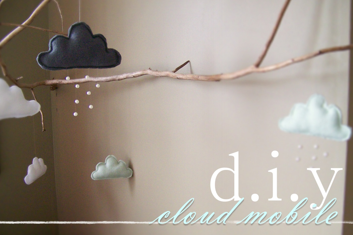 needle and nest design d i y fabric cloud mobile