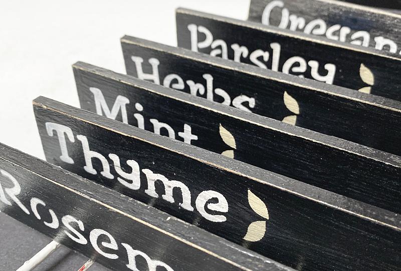 black herb markers