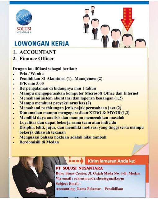 Loker Terbaru Medan SMA SMK D3 S1 Mei 2020 PT Solusi Nusantara
