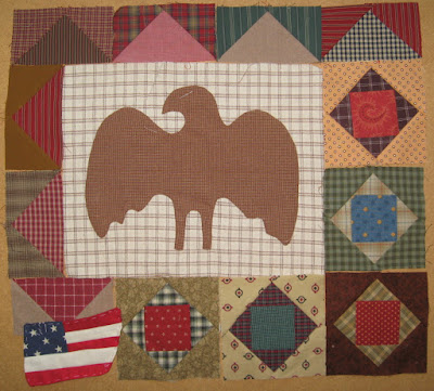 Sweet Land of Liberty Eagle, flag, Economy and flying geese blocks