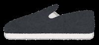 横から見た靴のイラスト(スリッポン)