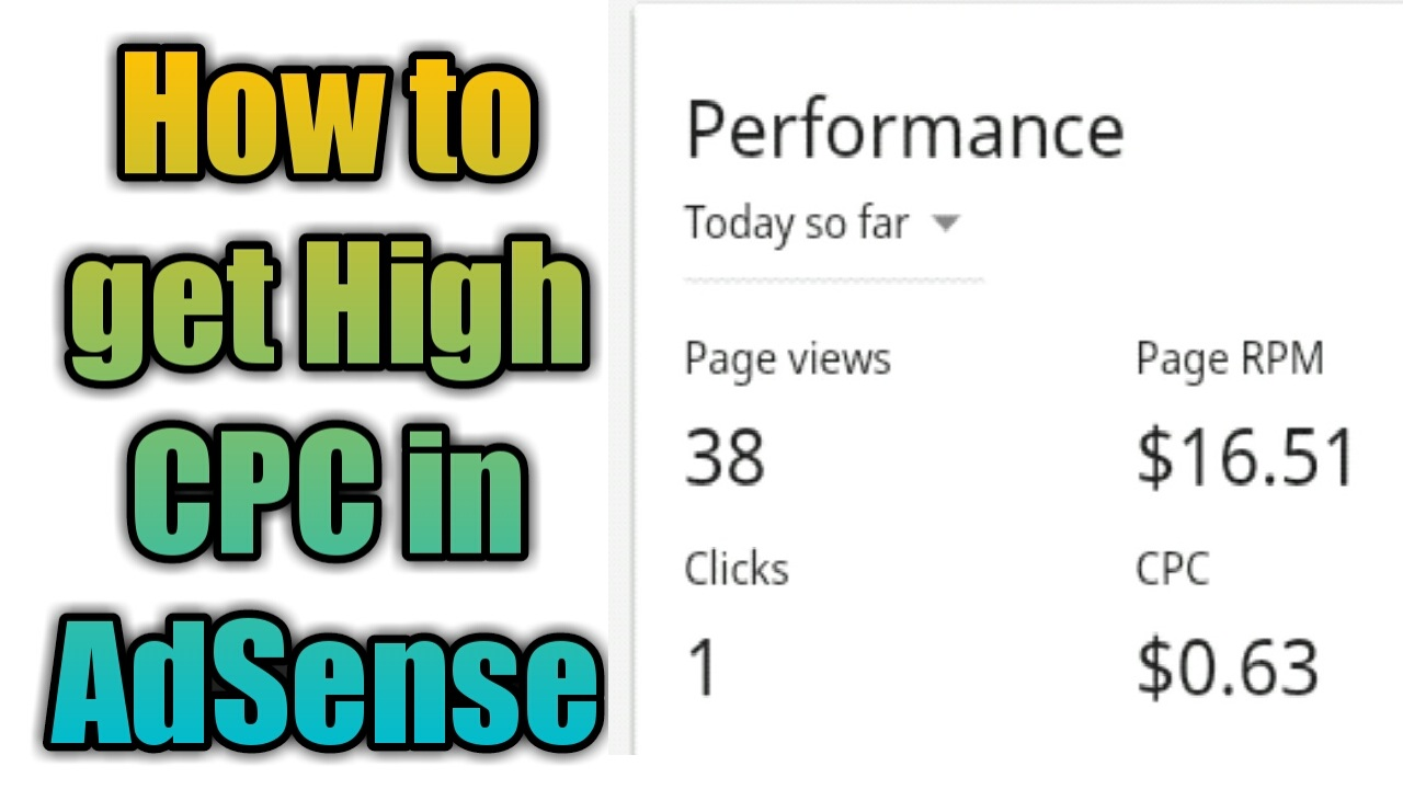how to get high cpc in adsense 100% working trick 2019 - Tricks
