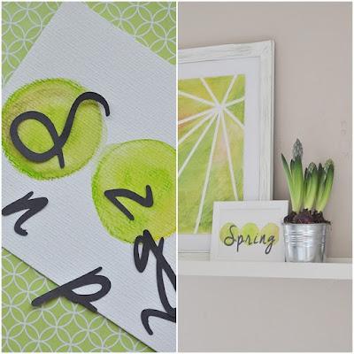 Bilder in Aqua-Farben DIY
