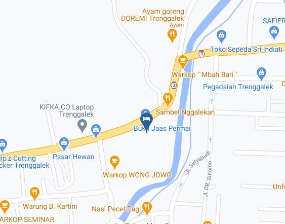 Map Letak Hotel Bukit Ja'as Permai Trenggalek
