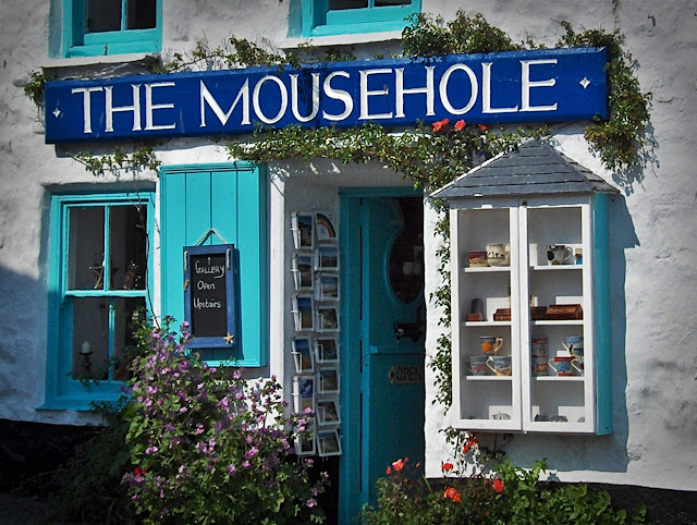 Shop called Mousehole at the village of Mousehole, Cornwall