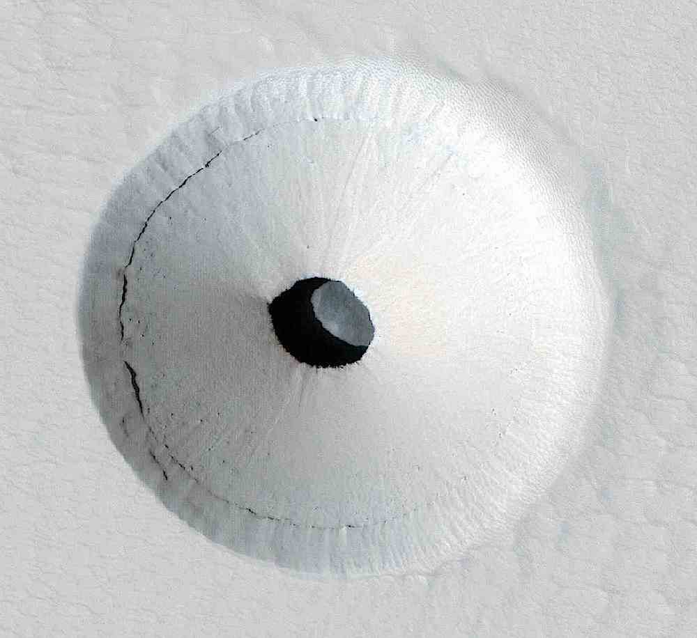 a crater on Mars at one of the poles