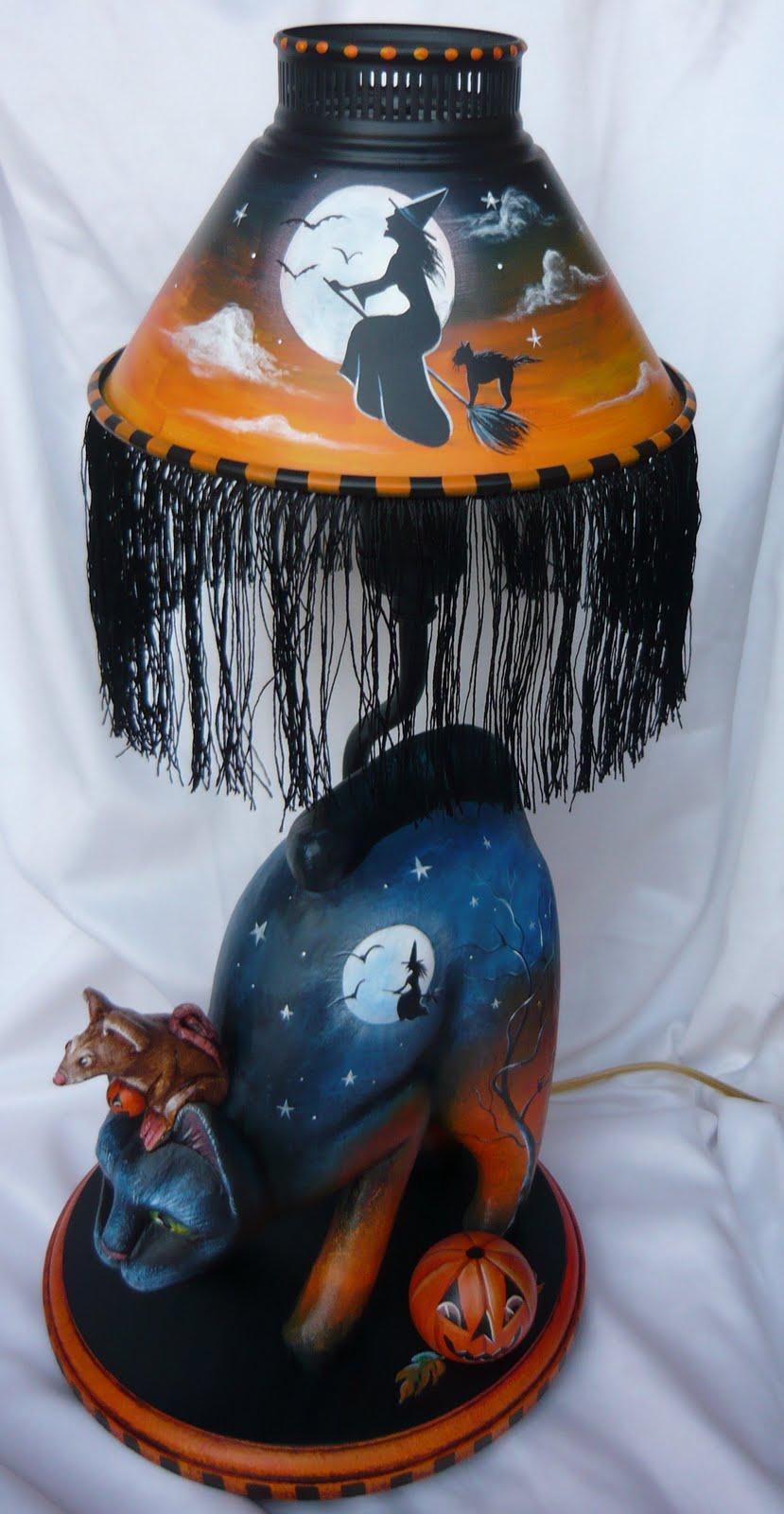 Magic Brush Studio Ooak Black Cat Mouse Witch Halloween