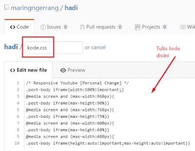 Cara Terbaru Hosting Kode CSS/JavaScript ke GitHub
