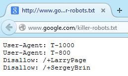 Google's Killer Robots.txt Easter Egg