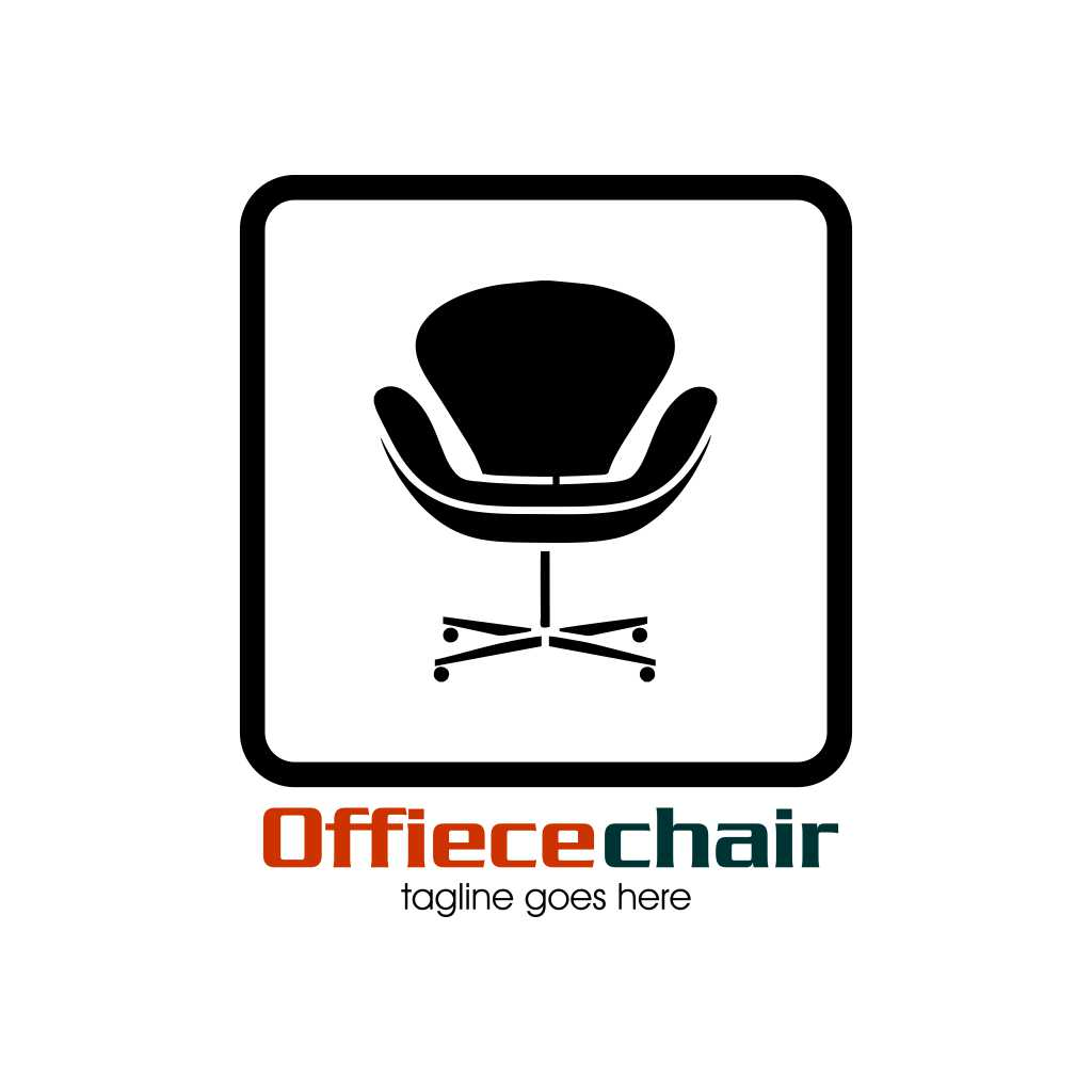 Office Chair Design Logo Template Free Download Vector CDR, AI, EPS and PNG Formats