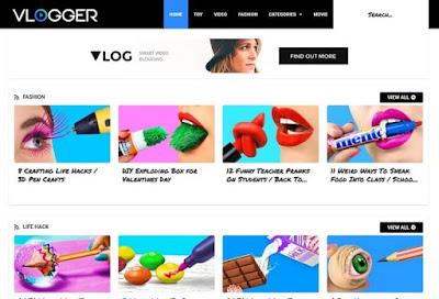 Premium Vlogger Blogger template