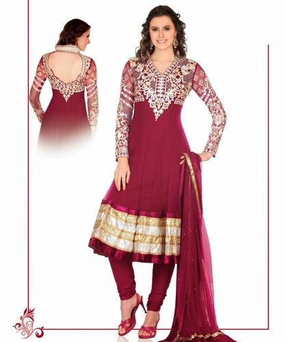 Anarkali Umbrella Frock Dress Designs 2014-2015