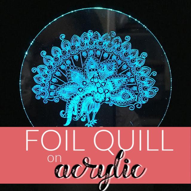 silhouette 101, silhouette america blog, foil quill, acrylic, curio tutorial