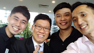 Yuantai and johnny lai, boss of Acc-Pro Business Group