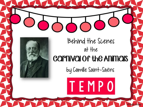 This is a blog post on Sally's Sea of Songs highlighting strategies for using Carnival of the Animals to teach the concept of tempo.
