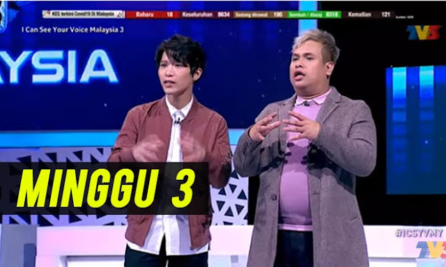 LIVE I Can See Your Voice Malaysia 3 Part 2 Minggu 3 (5.7.2020).
