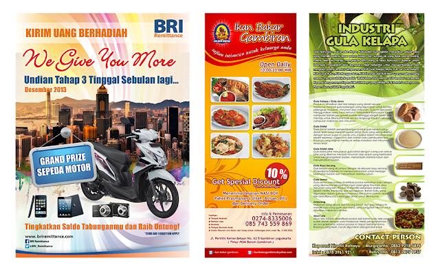 Desain Pamflet & Brosur Desain Grafis kreatif
