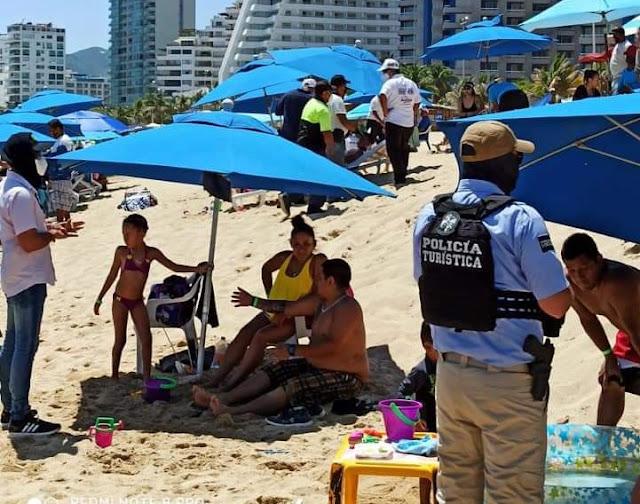 Refuerza Protección Civil operativos en accesos a playas y franja de arena