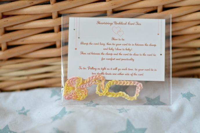 homebirth, cord tie, homemade cord tie