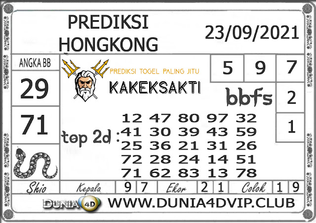 Prediksi Togel HONGKONG DUNIA4D 23 SEPTEMBER 2021