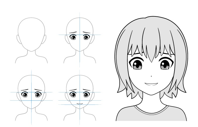 Contoh gambar gadis anime malu