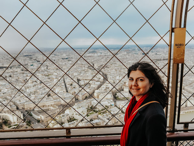 Visiting eiffel tower with Klook- taking in 2nd floor views