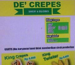 Lowongan Kerja di De Crepes