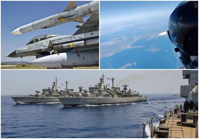 Η ελληνική απάντηση στους λεονταρισμούς Ακάρ: Μήνυμα αποτροπής από Στόλο και Πολεμική Αεροπορία