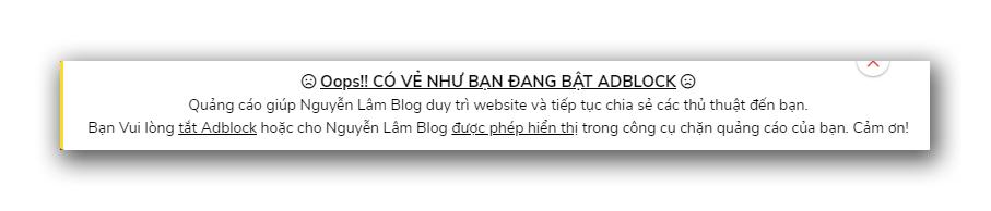 Cách Chặn Adblock Trên Trang Blogger/Blogspot Của Bạn 3