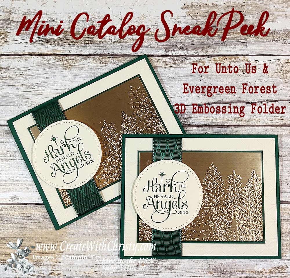 Mini Catalog Sneak Peek - For Unto Us & Evergreen Forest