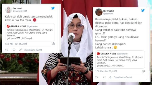 Ramai Dikritik soal Gerakan Wakaf Uang, Sri Mulyani Disebut Mendadak Kadrun dan Jualan Ayat