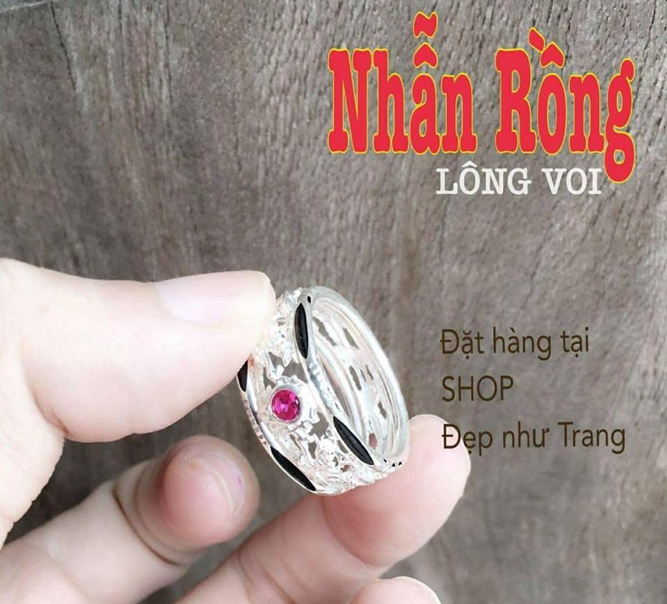 Mẫu nhẫn lông voi may mắn tài lộc cho nam cực xịn của Đẹp Như Trang chế tác