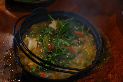 Kangkung seafood hotplate dengan says tauco