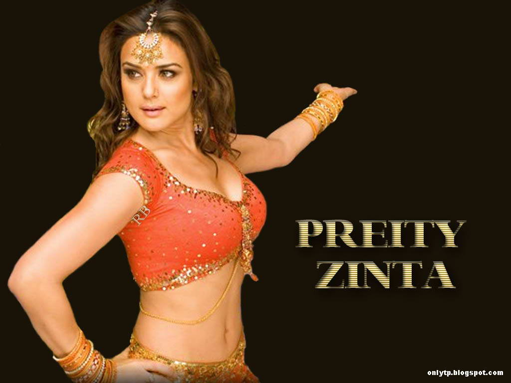 Hot Hd Wallpaper Preity Zinta Hot Sari Half Sari Photo Gallery