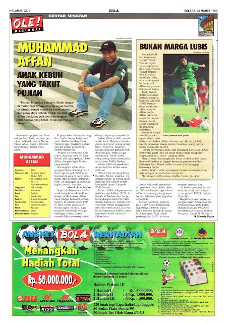 PROFIL MUHAMMAD AFFAN LIGA INDONESIA