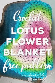 Crochet Lotus Flower Circle Blanket Pattern