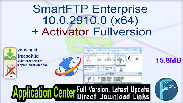 SmartFTP Enterprise 10.0.2910.0 (x64) + Activator Fullversion