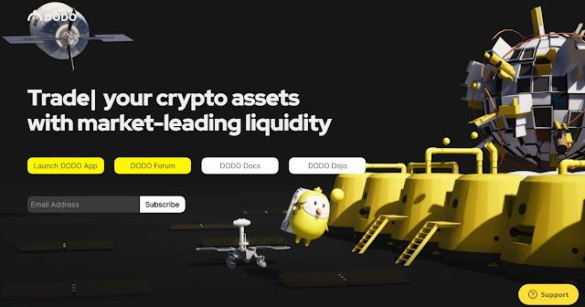 Screenshot Website DODO (DODO) Cryptocurrency