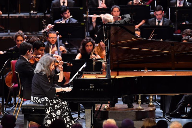 Prom 34 - Martha Argerich, West-Eastern Divan Orchestra - BBC Proms (Photo BBC / Chris Christodoulou)